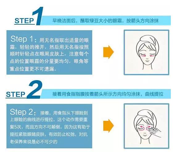 小贴士:正确使用眼霜的方法步骤