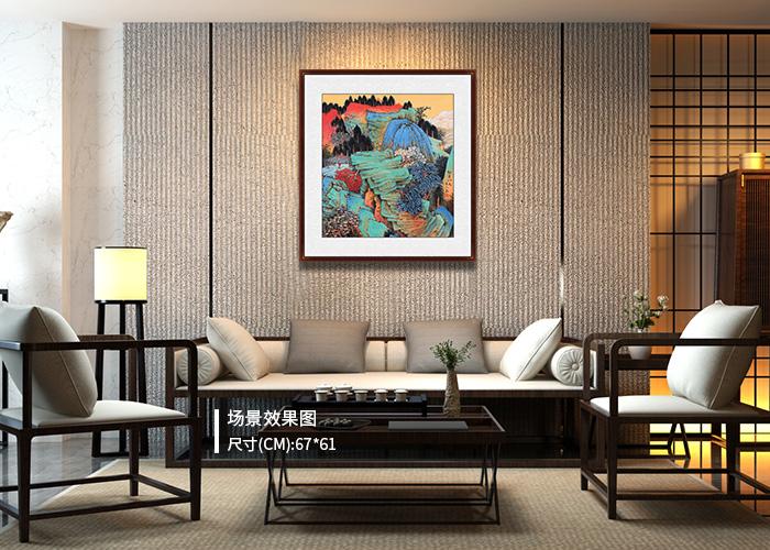 小户型客厅挂什么好?山水秀丽艺术淡泊更明净!