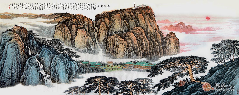 许吉尔手绘字画如何 界画山水美景独特更无双