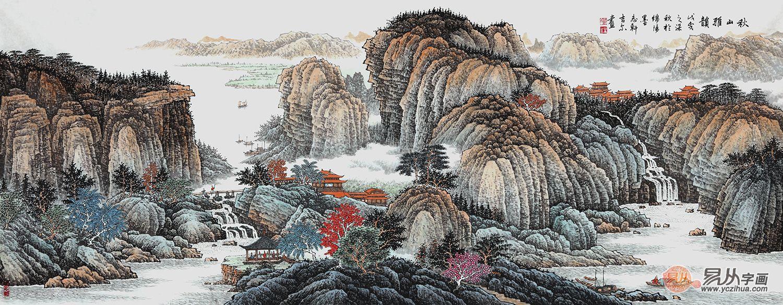 许吉尔擅长国画赏析 山水字画美景秀雅更别致